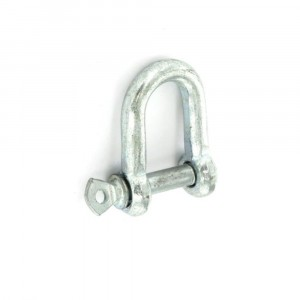 Securit Dee Shackle Zinc Plated Pack 2