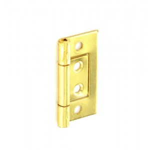 Securit Flush Hinges Brass Plated (Pair)