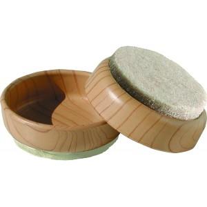 Castor Cups Light Woodgrain