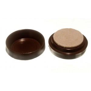 Felt Gard Castor Cups Brown