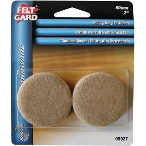 Felt Gard Heavy Duty Round Floor Protection Pads Pack 4