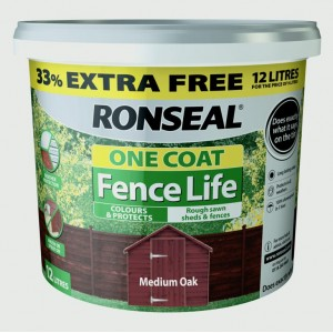 Ronseal One Coat Fence Life 9L + 33% Free
