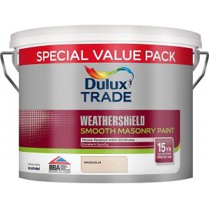 Dulux Trade Weathershield Smooth Masonry Paint 7.5L