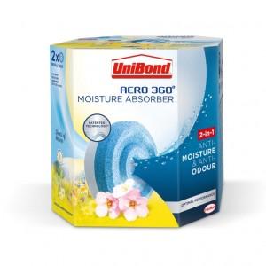 UniBond Aero 360 Moisture Absorber Refill Pk2 Wildflower Meadow
