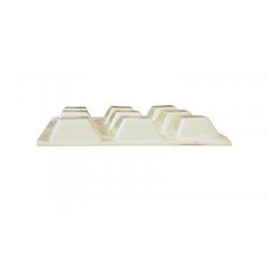 Felt Gard Vinyl Buffer Square White