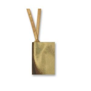 Gift Tag 50 x 70mm Metallic with Ribbon