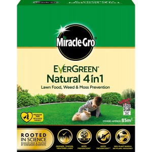 Miracle-Gro Evergreen Natural 4-in-1 Lawn Food